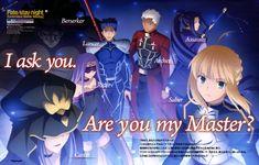 Saber / Archer / Lancer / Rider /  Caster / Sasaki Kojiro / Berserker【Fate/Stay Night】
