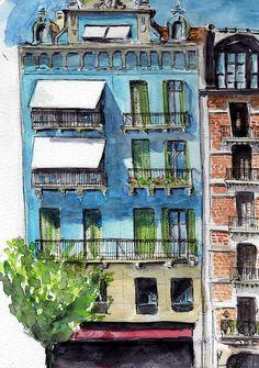 Immeuble_bleu | Flickr - Photo Sharing!