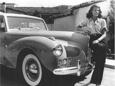 Tomboy Style: ICON | Rita HayworthPhoto of Rita Hayworth with her 1941 Lincoln Continental via PTA Transit Authority.