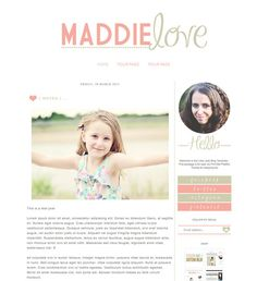 Blogger Template inc. Blog Elements and XML by BrandMeBeautiful