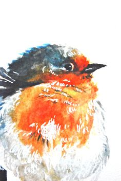 """Watercolor Painting, Giclee Print, Blue Bird, 8""""x10"""""""