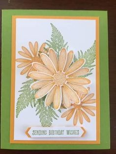 Stampin' Up! Birthday Cards For Women, Handmade Birthday Cards, Daisy Delight Stampin' Up, Pop Up Flower Cards, Pinterest Cards, Thanks Card, Beautiful Handmade Cards, Flower Stamp, Stamping Up Cards