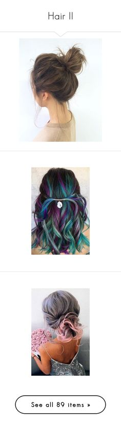 """""""Hair II"""" by lucyheartyui on Polyvore featuring beauty products, haircare, hair styling tools, hair, accessories, hair accessories, jewelry, earrings, unicorn jewellery i twist knot earrings"""