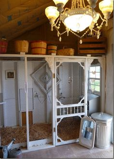 I like this idea. The coop is in a shed. I could easily do chickens and/ or rabbits in a shed, and maybe have room for equipment.