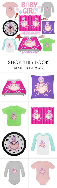 """""""Octavia Octopus"""" by jnccreations ❤ liked on Polyvore featuring interior, interiors, interior design, home, home decor and interior decorating"""