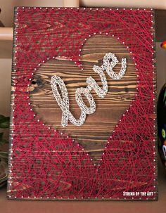 String Art DIY Crafts Kit - Heart Decor, DIY String Art Love, DIY Kit, Crafts…