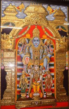 maha vishnu with sri devi and bhudevi