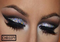 tutorial on how to get glitter to stick to eyeshadow - Google Search