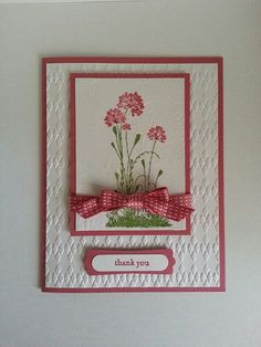 Handmade Thank You Card on Etsy, $3.00
