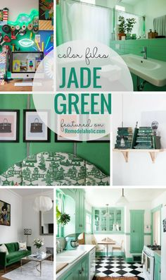 7 Unexpected Ways To Decorate With Jade Green #decorating #decoratingideas  #green #remodelaholic