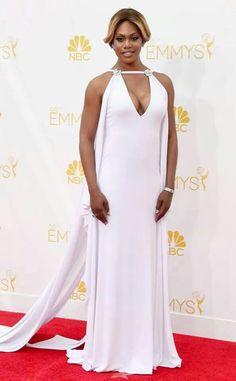 Laverne Cox in custom Marc Bouwer #Emmy2014