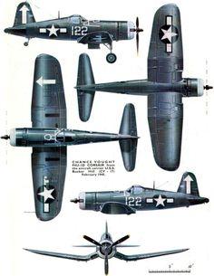 Chance Vought F4U-1D Corsair by rosella