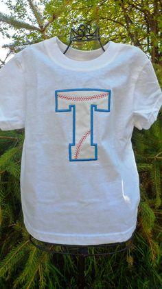 Monogram  Baby Boy Baseball  Sports Tee Shirt