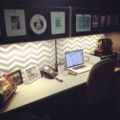 Ideas about home office organization: Work Cubicle Decor, Office Cubicle, Practical Magic House, Home Office Organization, Modern Desk, Working Area, House Plans, Cubicles, House Design