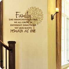 Family Tree (wall decal from WallWritten.com).