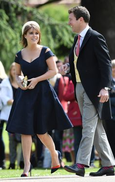 Princess Beatrice attends the wedding of Pippa Middleton and James Matthews at St Mark's Church on May 20 2017 in Englefield Green England Princess Eugenie And Beatrice, Royal Princess, Princess Diana, Pippas Wedding, Wedding Gowns, Wedding Things, Royal Fashion, Fashion Show, Pippa Middleton Wedding