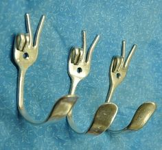 Would make great kitchen cuphooks, utensil holders, or towel hooks.