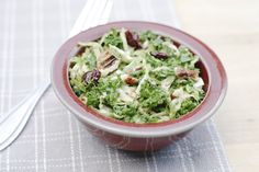 Delicious healthy side salad of shredded brussel sprouts and kale, craisins, toasted pecans, all dressed in maple vinaigrette. Copycat Cracker Barrel Recipe