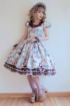 dolldelight:  One of the many handmade dresses you will see in my reality show, The Doll Life! Episode 1 is up and viewable here. Let me know what you think! <3