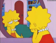Relatable Pictures of Lisa Simpson Lisa Simpson, Cartoon Icons, Cartoon Memes, Cartoons, Los Simsons, Simpson Wallpaper Iphone, Bad Boy, Cartoon Profile Pictures, Vintage Cartoon