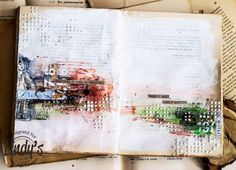 Art journal with Lindy's Stamp Gang
