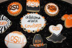 OSU Cookies Boomer Sooner by 4theloveofcookies on Etsy, $30.00