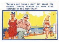 1950s comedy postcard