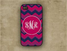 Monogrammed iPhone case - Multicolor chevron, purples - personalized Iphone 4 case Iphone 5 cover Iphone 4s plastic or silicone (9867) on Etsy, $13.99