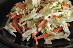 Fall Slaw with Asian Pears and Almonds close up