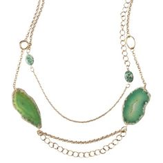 Gold multi chain Agate Necklace from Target, $23.99