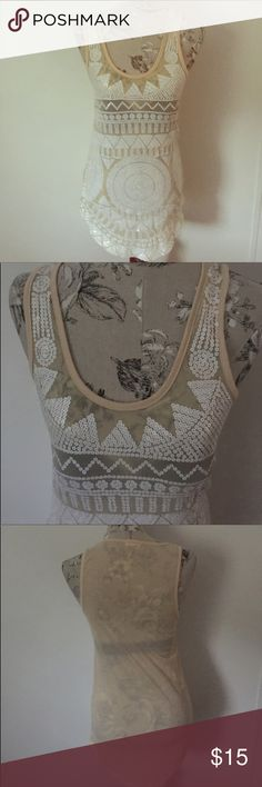 "Urban Outfitters Sequin Long Tank S Excellent condition. Front flat under arm side to side 16"". Length 27"" at shoulder to bottom.U shape bottom.  Silence Noise. Urban Outfitters Tops"