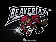 332fca55514 Beaverjax hockey logo designed by SlavoKiss.com for CapEaters.com Hockey  Logos