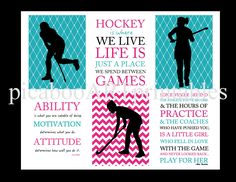 Field hockey player, ability motivation attitude, instant download, collage, print it yourself, teal pink room, motivational art, hockey art Bulletin Board Design, Dance Themes, Teal And Pink, Childrens Room Decor, Pink Room, Field Hockey, Modern Kids, Dance Art, Sports Art