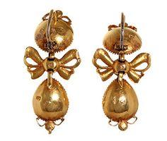 18th Century Spanish Table Cut Diamond Earrings