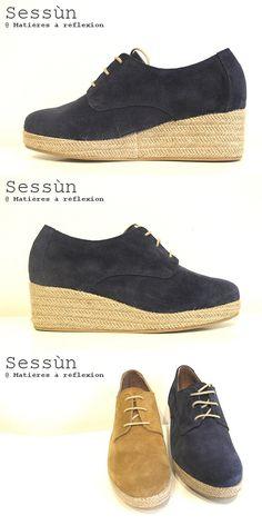 Sessun derbies compensées raffia Navy #sessun #derbies #compensé #bleu #marine #blue #navy #raffia #raphia #paille #fashion #chaussure #shoes #ss15