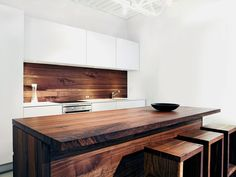 Designer Christian Woo. Walnut/White