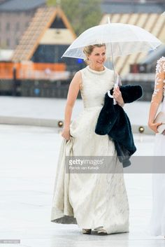 Sophie, Countess of Wessex, arrives at the Opera House on the ocassion of the celebration of King Harald and Queen Sonja of Norway 80th birthdays on May 10, 2017 in Oslo, Norway. (Photo by Patrick van Katwijk/Getty Images)