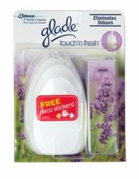 Glade Touch N Fresh Unit Lavender Glade Touch'n Fresh delivers a concentrated fragrance in just one touch, that will freshen your home, leaving it smelling fresh for hours.