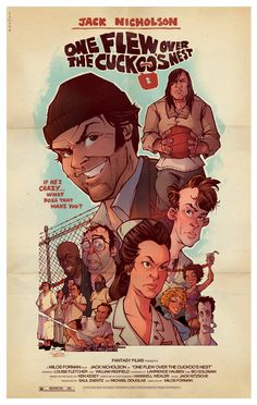 One Flew Over the Cuckoo's Nest by Brett Parson/ Website  Part of theWeapon of Choice: Phase 2&Oscar Legends!Art Show atHero Complex Gallery/ Facebook.