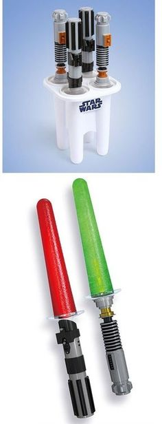 Light Saber Popsicle handles. Camden would LOVE these... So would @Jamie Kendrick