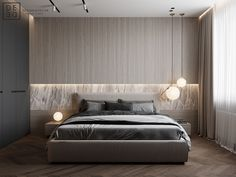 DEDE/Brutal minimalism on Behance Modern Master Bedroom, Modern Bedroom Design, Bed Design, Home Bedroom, Room Decor Bedroom, Bedroom Signs, Master Bedrooms, Bed Room, Bedroom Ideas