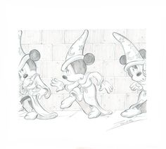 Mickey Mouse - The Sorcerer's Apprentice - Original Pencil Drawing - Z. Vendetta - W.B.