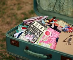 kinda like the idea of an open suitcase with all our creative ideas inside :)