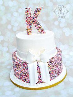Rainbow Sprinkles Cake - Cake by Cups-N-Cakes