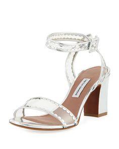 76ed7afa0ed Tabitha Simmons Leticia Frill Scallop PVC Block-Heel Sandal