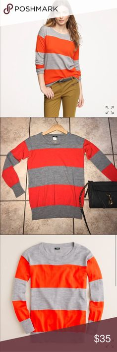 J.Crew Strip Saturday 100% Merino Wool Sweater In excellent condition worn twice Size Extra Small Super comfortable  I consider all offers ☺️❤️   (Please look at all pictures before purchasing; if any questions please ask) J. Crew Sweaters