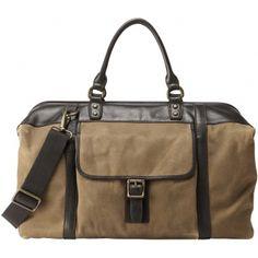 Un sac style décontracté pour partir en week!    SAC DE VOYAGE ESTATE - Toile & Finitions Cuir - FOSSIL MAROQUINERIE