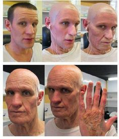 Matt's special effects makeup from the Time of the Doctor Doctor Who, 11th Doctor, Matt Smith, Makeup Fx, Old Age Makeup, Prosthetic Makeup, Theatrical Makeup, Special Effects Makeup, Special Makeup