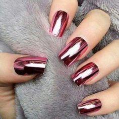 Unhas cromadas #Pink #Unhas #UnhasCromadas #Cromadas