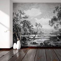 """WallpaperMural.com (@wallpapermuralcom) posted on Instagram: """"New arrival! Meet Tanetrict, a beautiful etched design of a peaceful river scene. I feel relaxed just looking at it 😌 #wallpapermural…"""" • May 9, 2021 at 12:46pm UTC"""